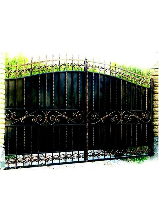 Купить Кованые ворота с калиткой - Авторские работы (Артикул 147)