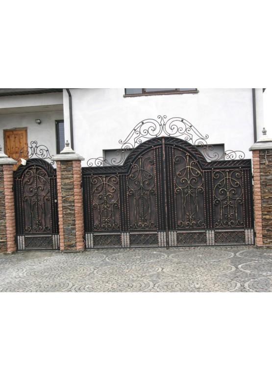 Купить Кованые ворота с калиткой - Авторские работы (Артикул 156)