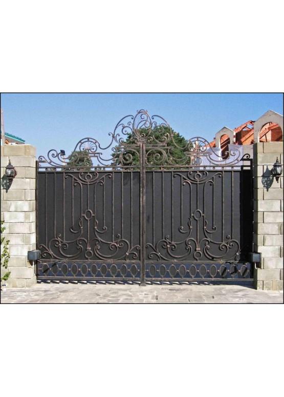 Купить Кованые ворота с калиткой - Авторские работы (Артикул 157)