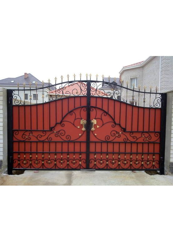 Купить Кованые ворота с калиткой - Авторские работы (Артикул 158)