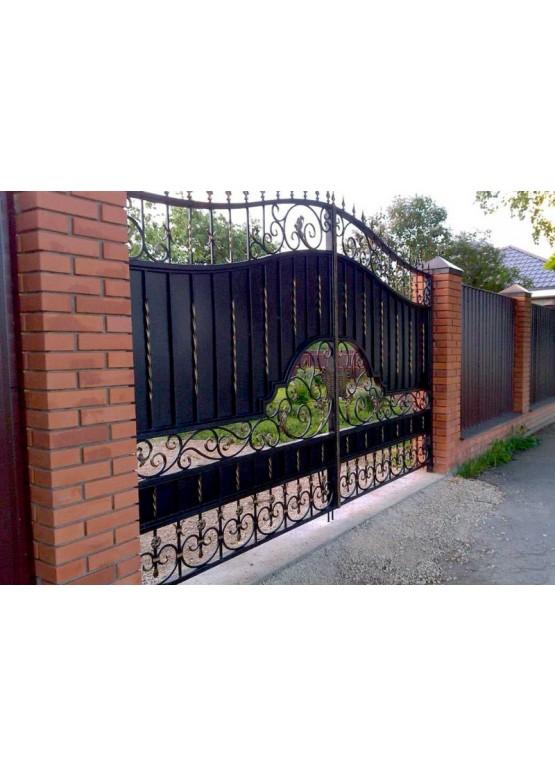 Купить Кованые ворота с калиткой - Авторские работы (Артикул 159)