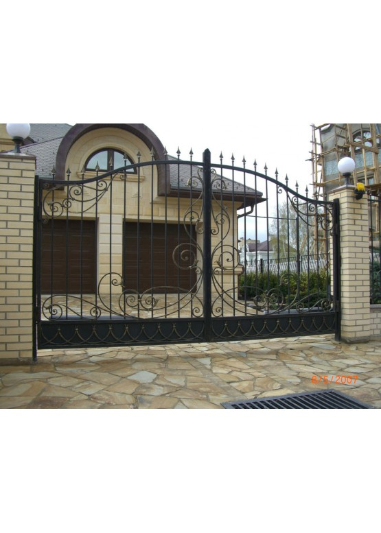 Купить Кованые ворота с калиткой - Авторские работы (Артикул 160)