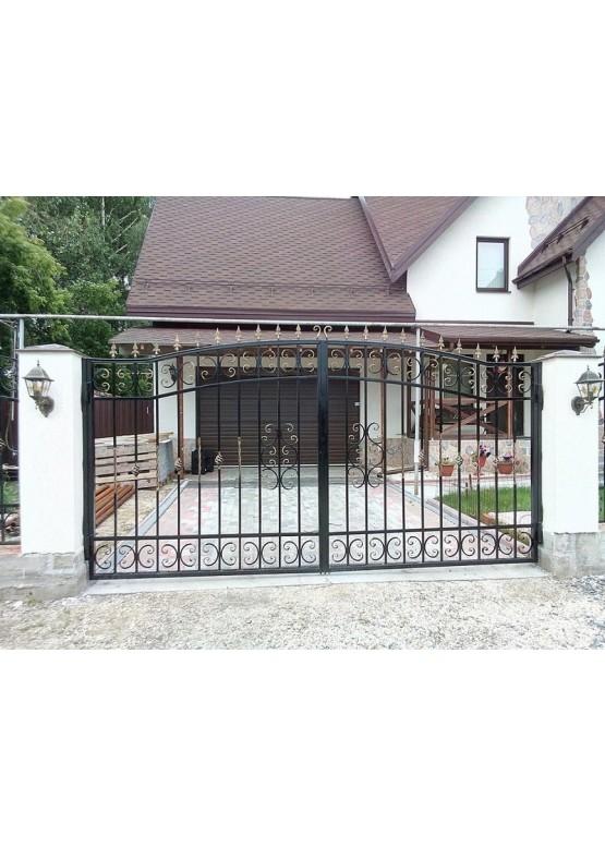 Купить Кованые ворота с калиткой - Авторские работы (Артикул 161)