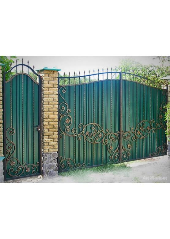 Купить Кованые ворота с калиткой - Авторские работы (Артикул 162)