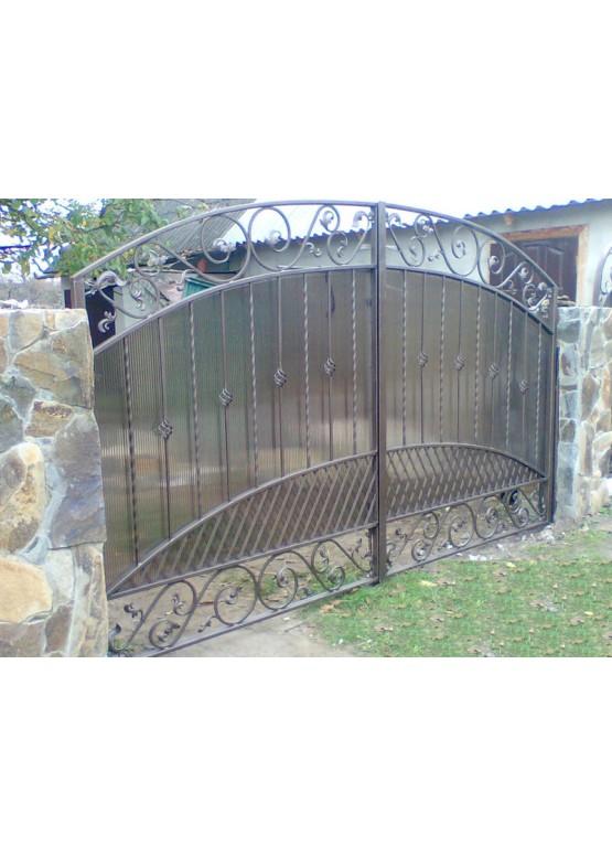Купить Кованые ворота с калиткой - Авторские работы (Артикул 164)