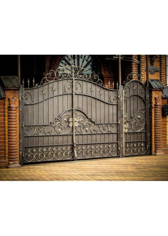 Купить Кованые ворота с калиткой - Авторские работы (Артикул 165)