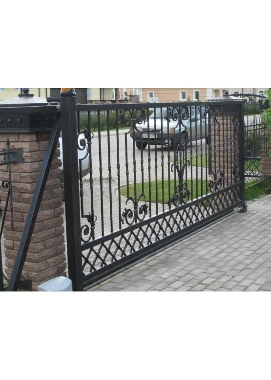 Купить Кованые ворота с калиткой - Авторские работы (Артикул 148)