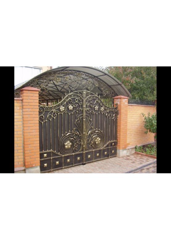Купить Кованые ворота с калиткой - Авторские работы (Артикул 167)