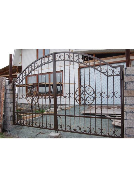 Купить Кованые ворота с калиткой - Авторские работы (Артикул 169)