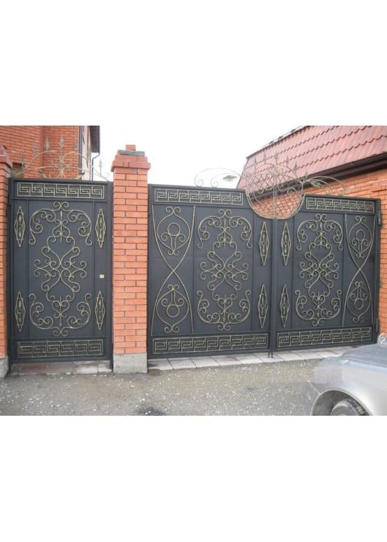 Купить Кованые ворота с калиткой - Авторские работы (Артикул 149)