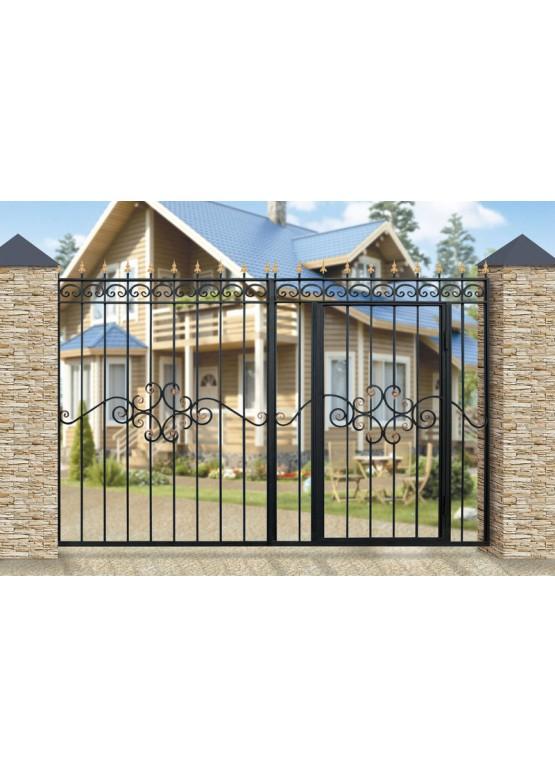 Купить Кованые ворота с калиткой - Авторские работы (Артикул 150)