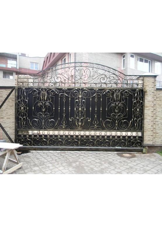 Купить Кованые ворота с калиткой - Авторские работы (Артикул 151)