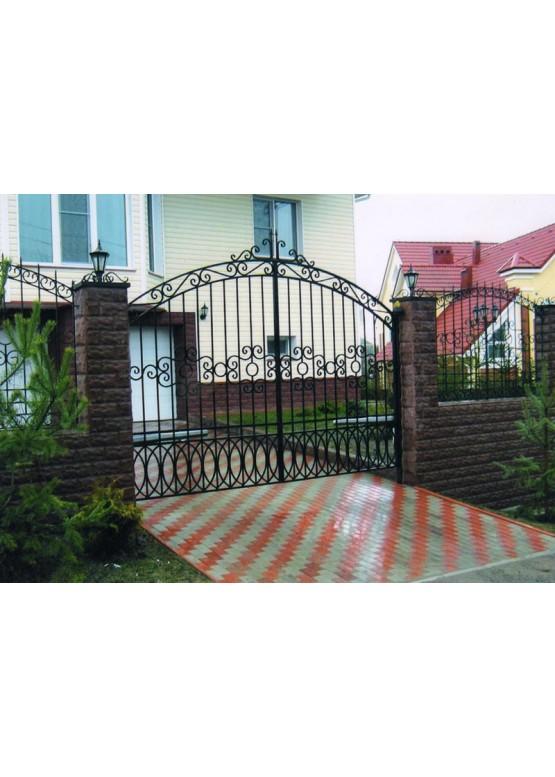 Купить Кованые ворота с калиткой - Авторские работы (Артикул 152)