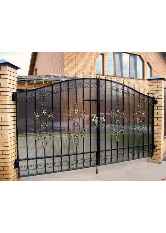 Купить Кованые ворота с калиткой - Авторские работы (Артикул 153)