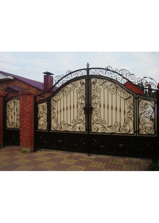 Купить Кованые ворота с калиткой - Авторские работы (Артикул 154)
