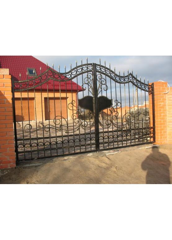Купить Кованые ворота с калиткой - Авторские работы (Артикул 155)