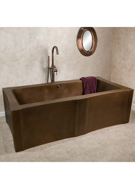 Купить Медная ванна квадратная - Авторские работы (Артикул 87)