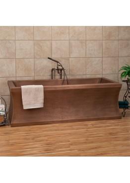 Медная ванна квадратная
