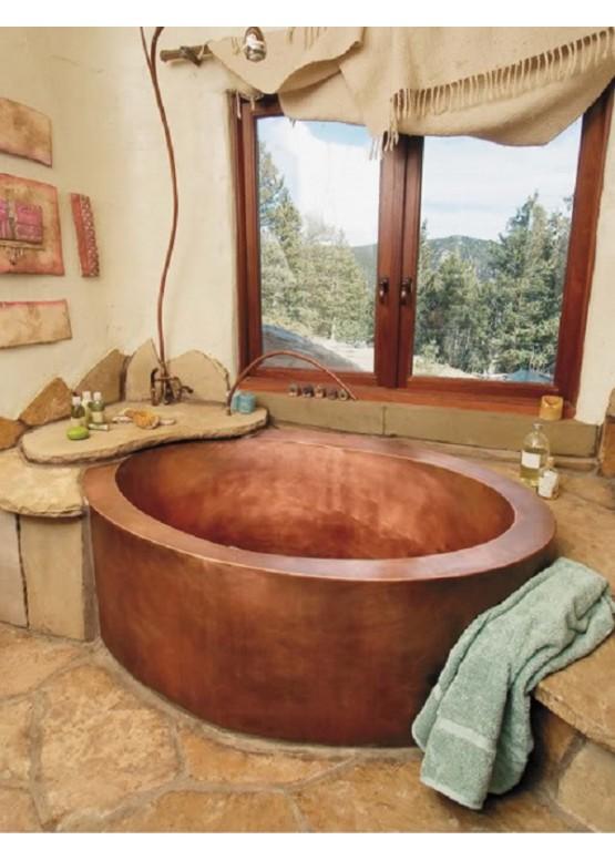 Купить Медная ванна круглая - Авторские работы (Артикул 104)