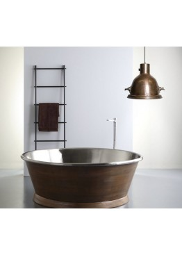 Медная ванна круглая