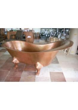 Медная ванна овальная