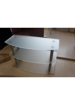 Стеклянная подставка под ТВ и аппаратуру