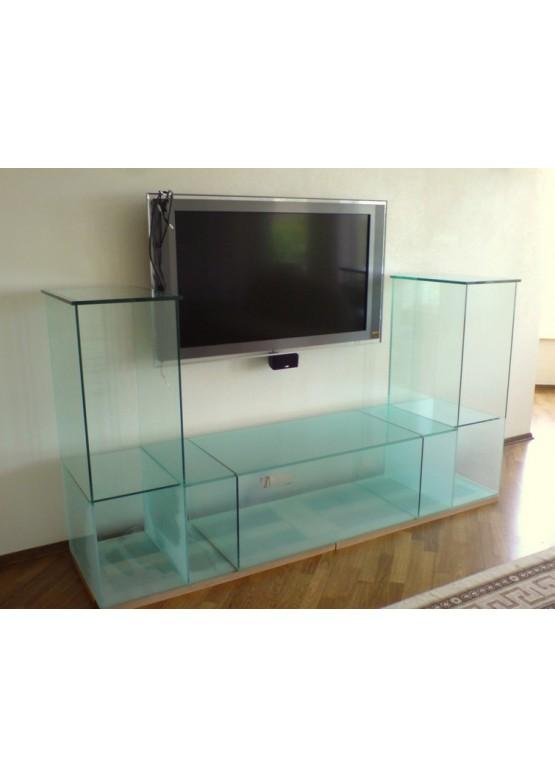 Купить Стеклянная подставка под ТВ и аппаратуру - Авторские работы (Артикул 1706)