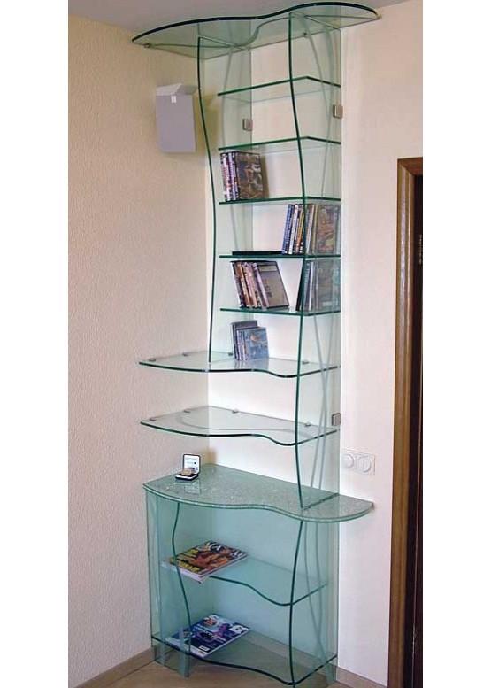 Купить Стеклянные шкафы и стеллажи - Авторские работы (Артикул 1974)