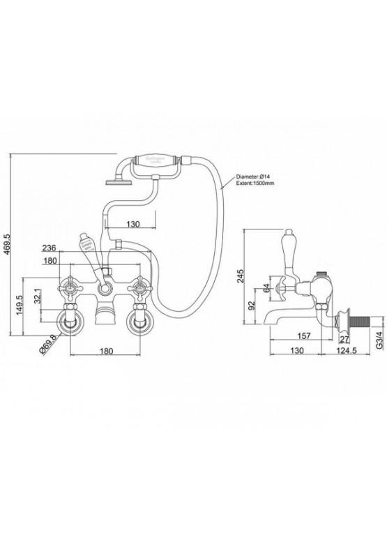 Купить Смеситель для ванны BURLINGTON REGENT - Авторские работы (Артикул 129)
