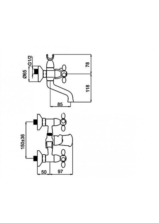 Купить Смеситель в ванную RUBINETA VENEZIA - Авторские работы (Артикул 131)
