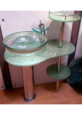 Умывальники из стекла, стеклянные раковины