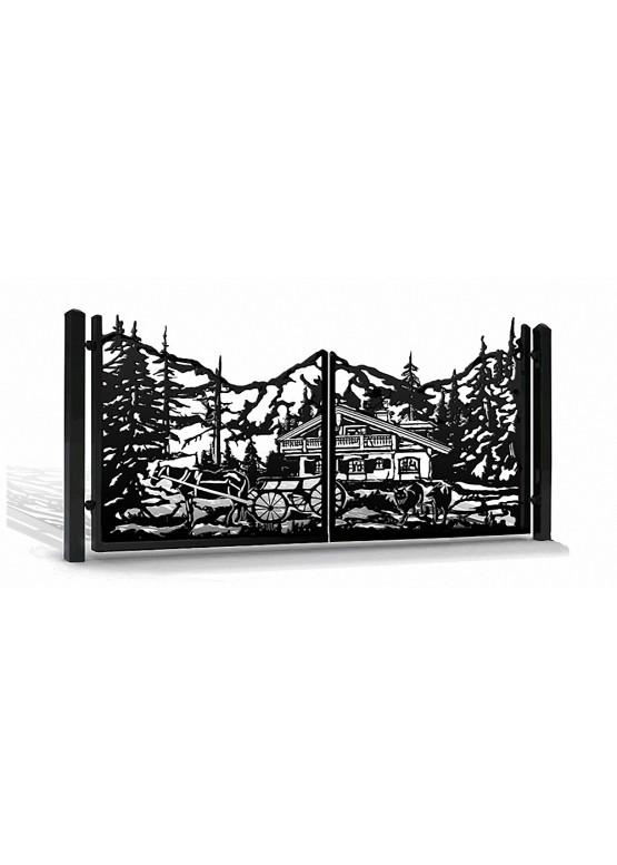 Купить Ворота , ограды , калитки и таблички - Авторские работы (Артикул 567)