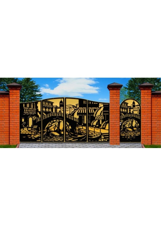 Купить Ворота , ограды , калитки и таблички - Авторские работы (Артикул 480)
