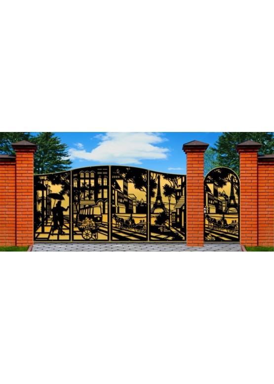 Купить Ворота , ограды , калитки и таблички - Авторские работы (Артикул 483)