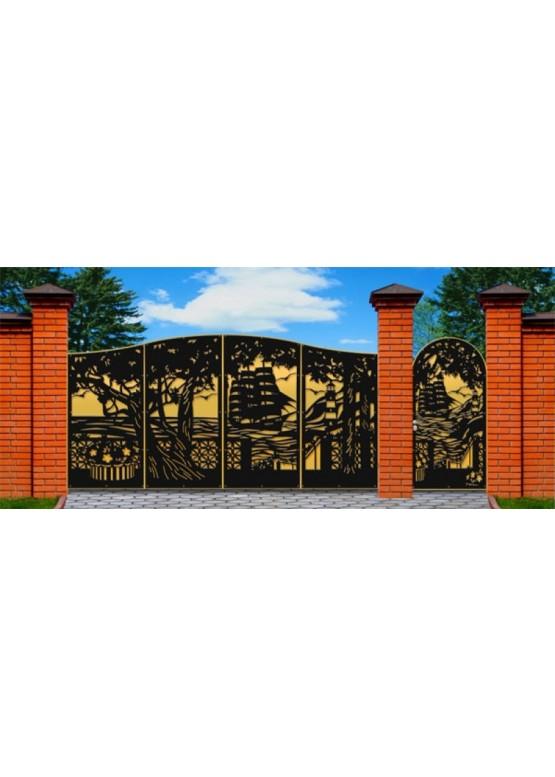 Купить Ворота , ограды , калитки и таблички - Авторские работы (Артикул 485)